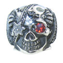 Stainless Steel skull ring SRC2001