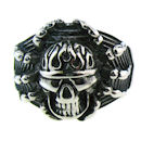 Stainless Steel skull ring SRC2006