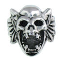 Stainless Steel skull ring SRC2043