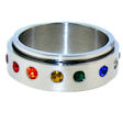 stainless steel spinner ring style SRJ0111
