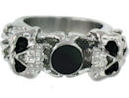 Stainless Steel skull ring SRJ2282