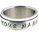 stainless steel personalized spinner ring SRJ9001