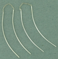 sterling silver threader earring T009