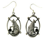 sterling silver cat earrings style WCE0544