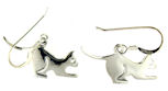 sterling silver cat earrings style WCE0557