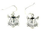 sterling silver cat earrings style WCE0646