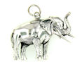 sterling silver elephant pendant WEPD639