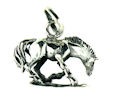 sterling silver horse pendant WHP0273