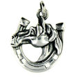 sterling silver horse pendant WHP0365