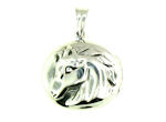 sterling silver horse pendant WLLK11