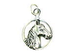 sterling silver horse pendant WLPD175