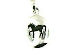 sterling silver horse pendant WLPD368