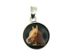 sterling silver horse pendant WLPD678