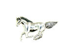 sterling silver horse pendant WLPD76