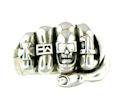 sterling silver skull fist ring WLR447