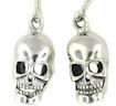 sterling silver skull earrings WSE1087
