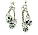 sterling silver skull earrings WSE1161