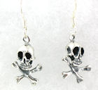 sterling silver skull earrings WSE1174
