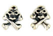sterling silver skull earrings WSE1175