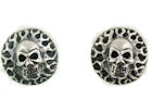 sterling silver skull earrings WSE1179