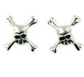 sterling silver skull earrings WSE1185