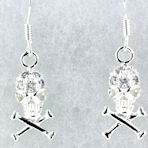 sterling silver skull earrings WSE1211
