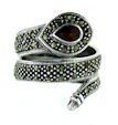 sterling silver snake ring style WSNRM27